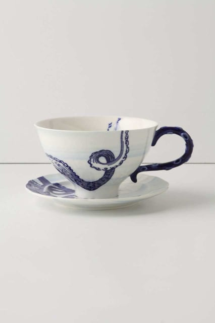 From The Deep Cup & Saucer / Anthropologie