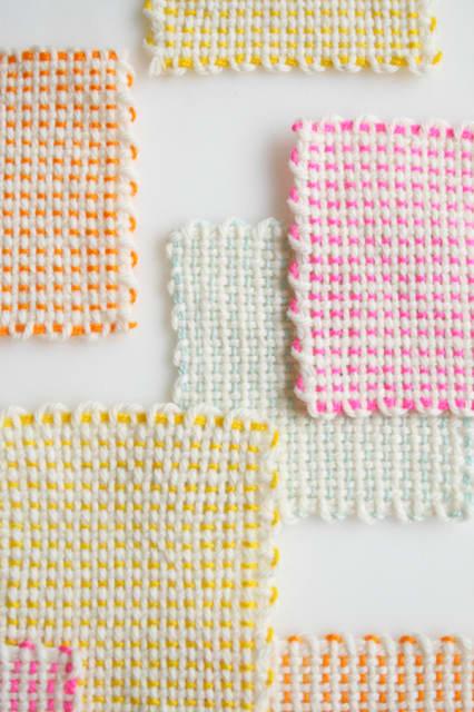 Pin Loom Coasters / The Purl Bee