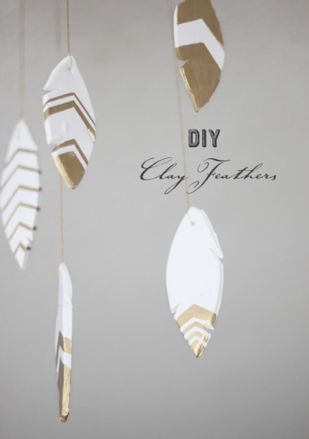 DIY clay feathers / Kelli Murray