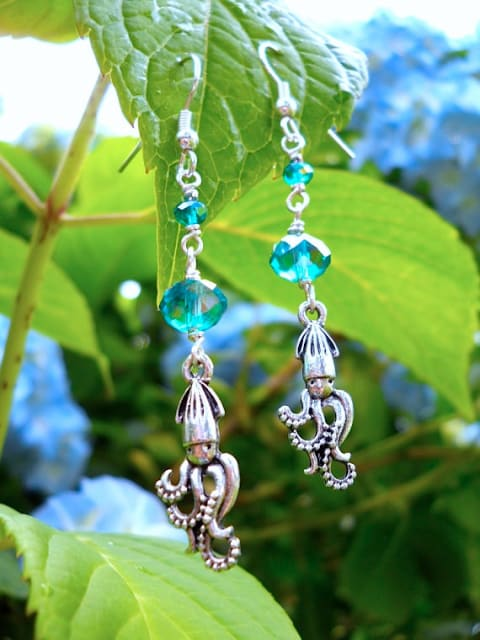 Silver Charm Earrings / TheOpulentSquid