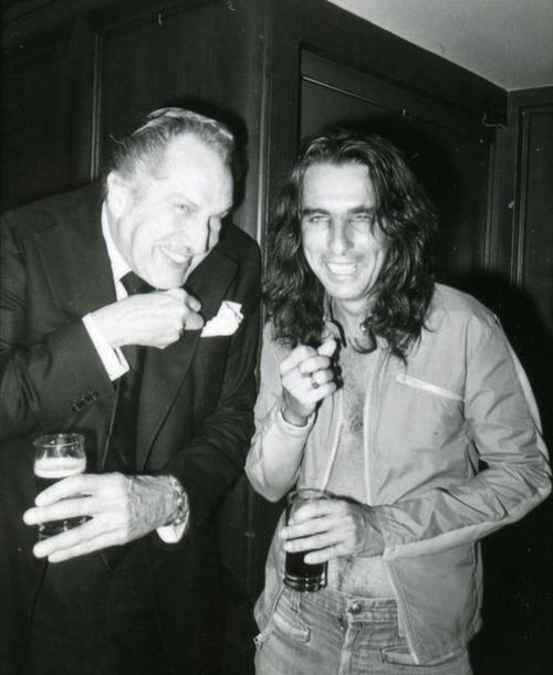 Vincent Price + Alice Cooper