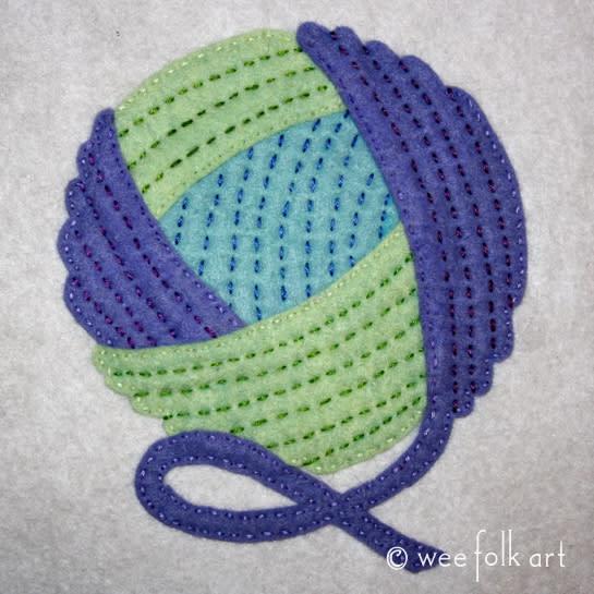 Ball of Yarn Applique Block / Kimara
