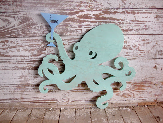 Cocktail Octopus Sign / seasawsign