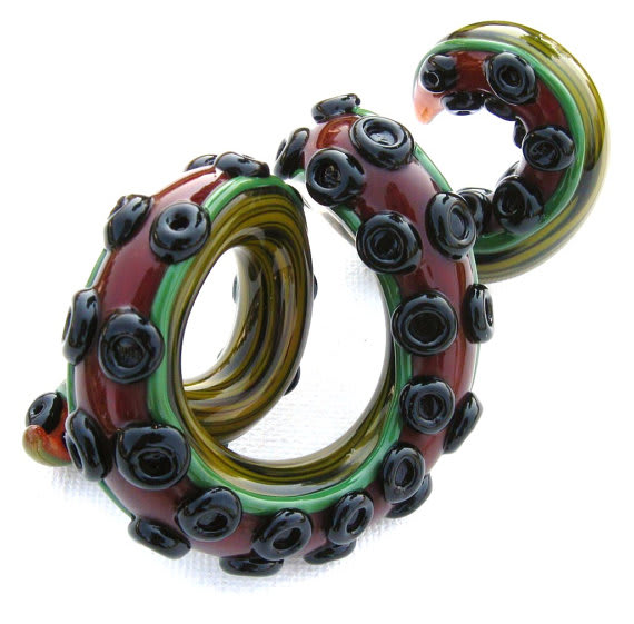 Giant Tentacle Sculpture Paperweight / Emergent Glassworks
