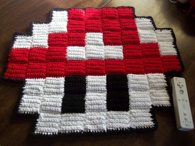8 Bit Mario mushroom mini rug / Harmonden