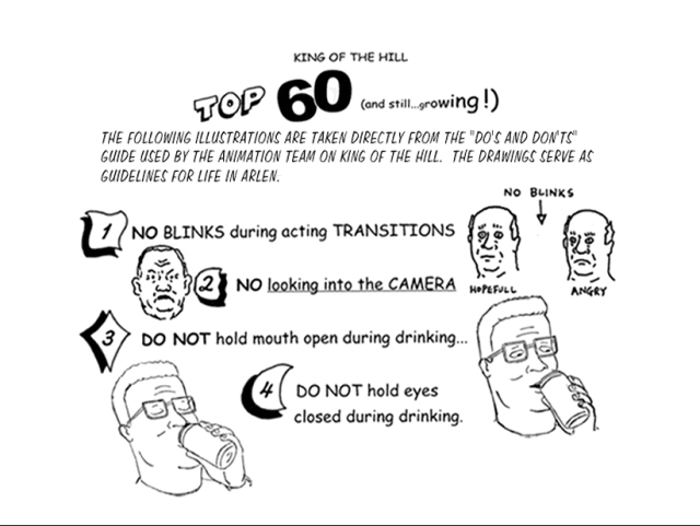 Animation Guidelines / King of the Hill