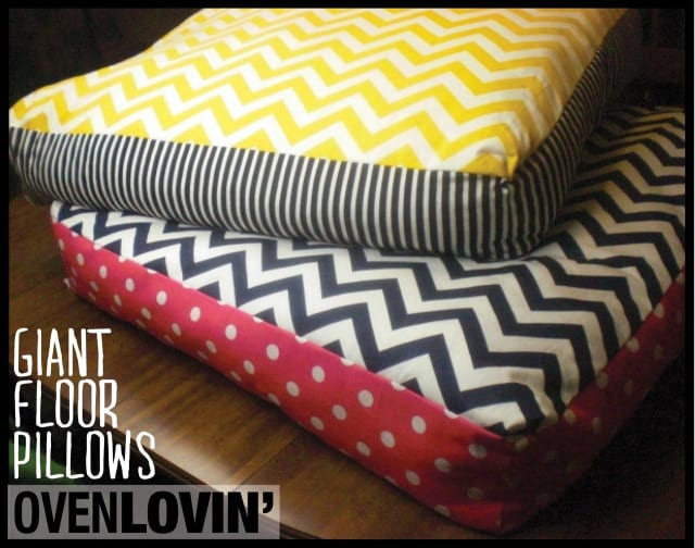 DIY giant chevron floor pillows / Jewels Phraner