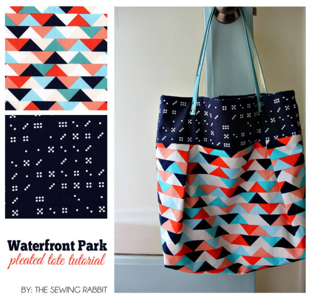 Waterfront Park Pleated Tote / The Sewing Rabbit