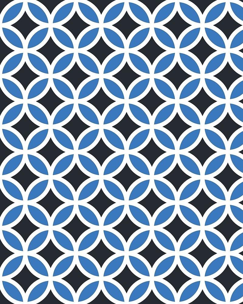 Geometric Pattern: Circle / Red Wolf