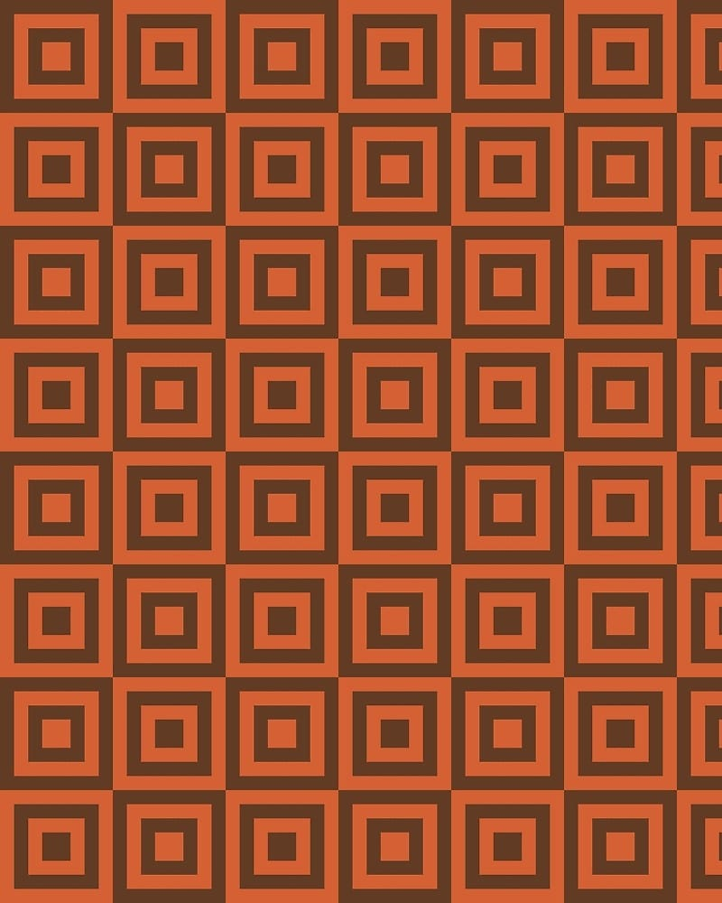 Geometric Pattern: Square Strobe / Red Wolf