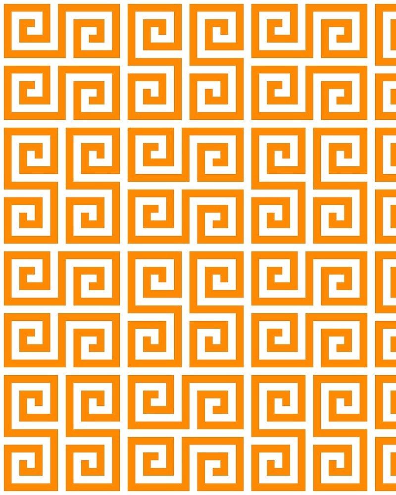 Geometric Pattern: Key Serpentine / Red Wolf