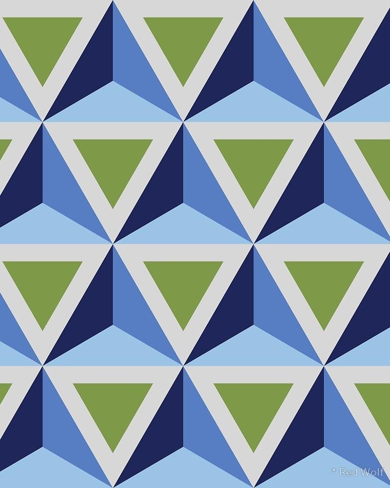 Geometric Pattern: Triangle / Red Wolf