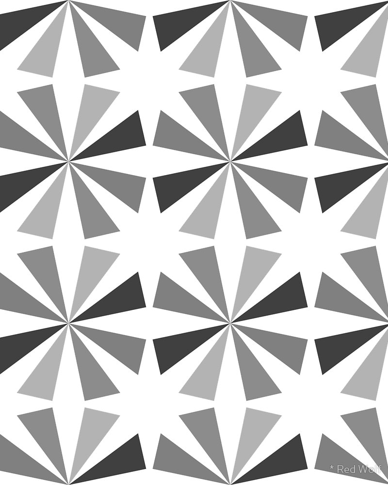Geometric Pattern: Star / Red Wolf