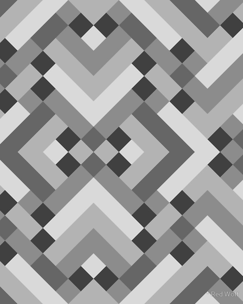 Geometric Pattern: Woven Rug / Red Wolf
