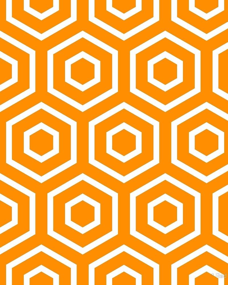Geometric Pattern: Hexagon Ring / Red Wolf