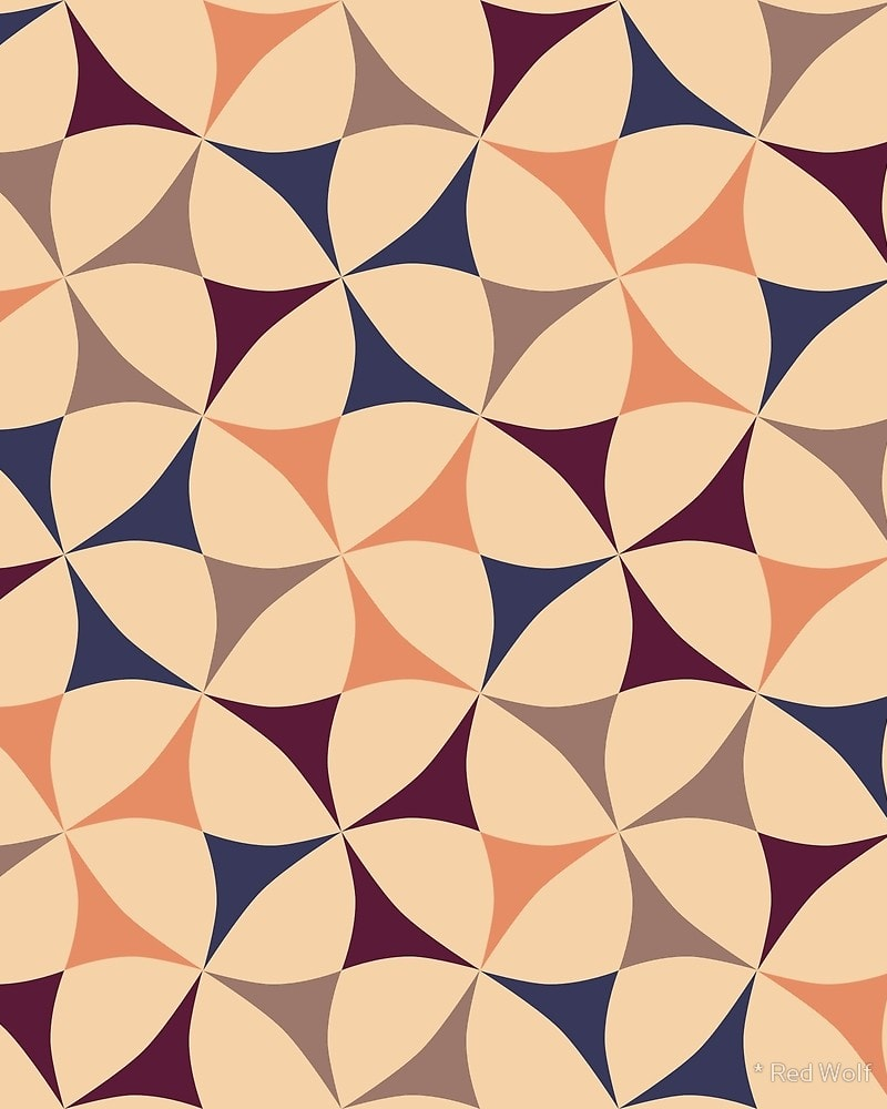 Geometric Pattern: Windmill / Red Wolf