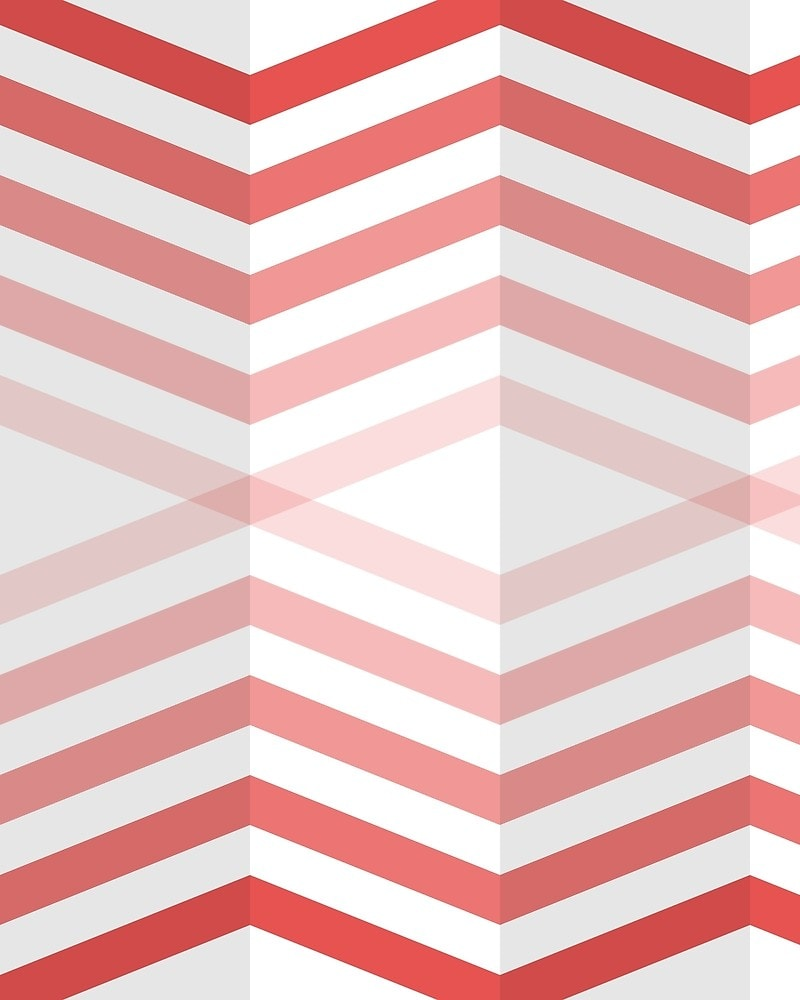 Geometric Pattern: Chevron Cascade: Light / Red Wolf