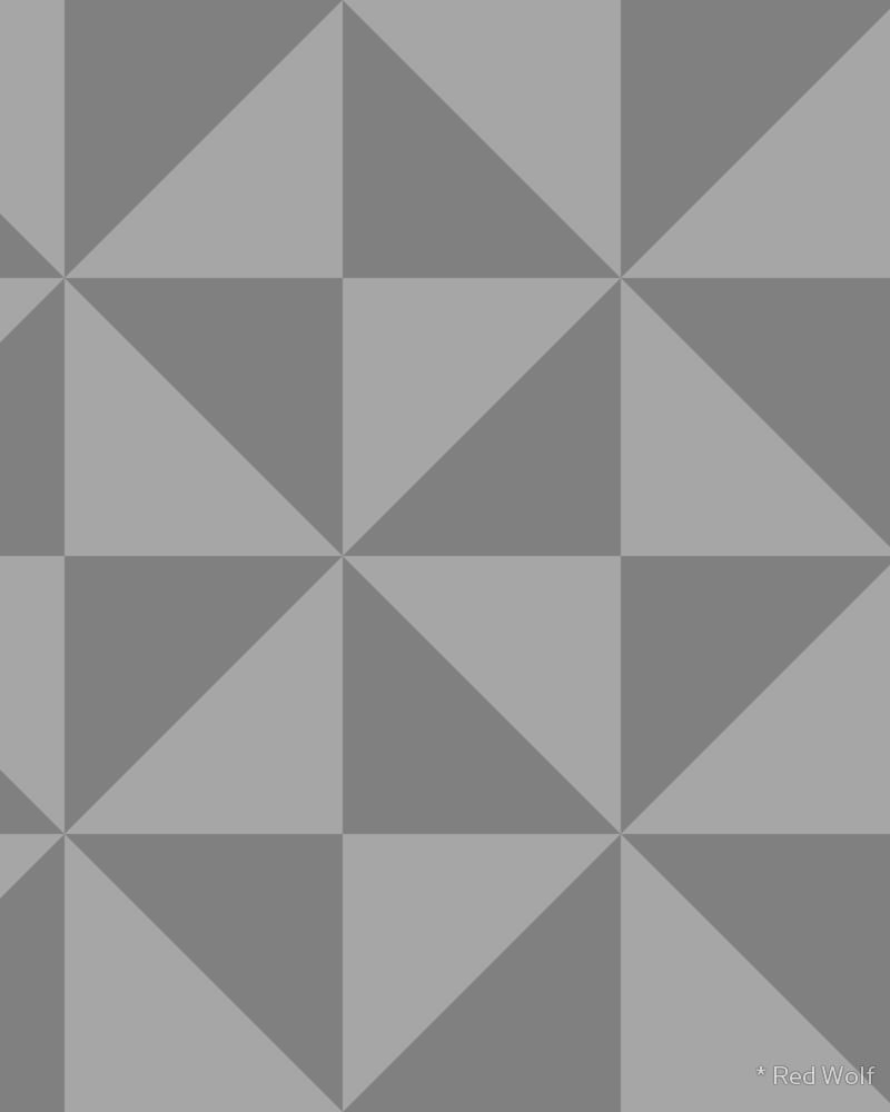 Geometric Pattern: Square Triangle: Monochrome / Red Wolf