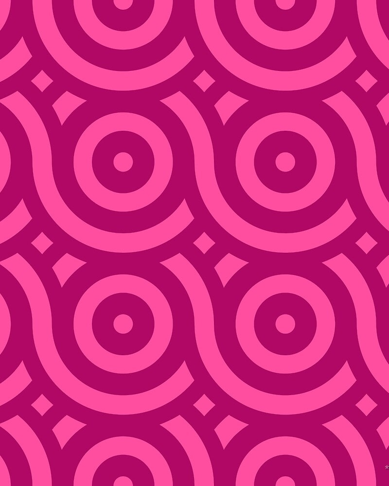 Geometric Pattern: Loop: Brunch / Red Wolf
