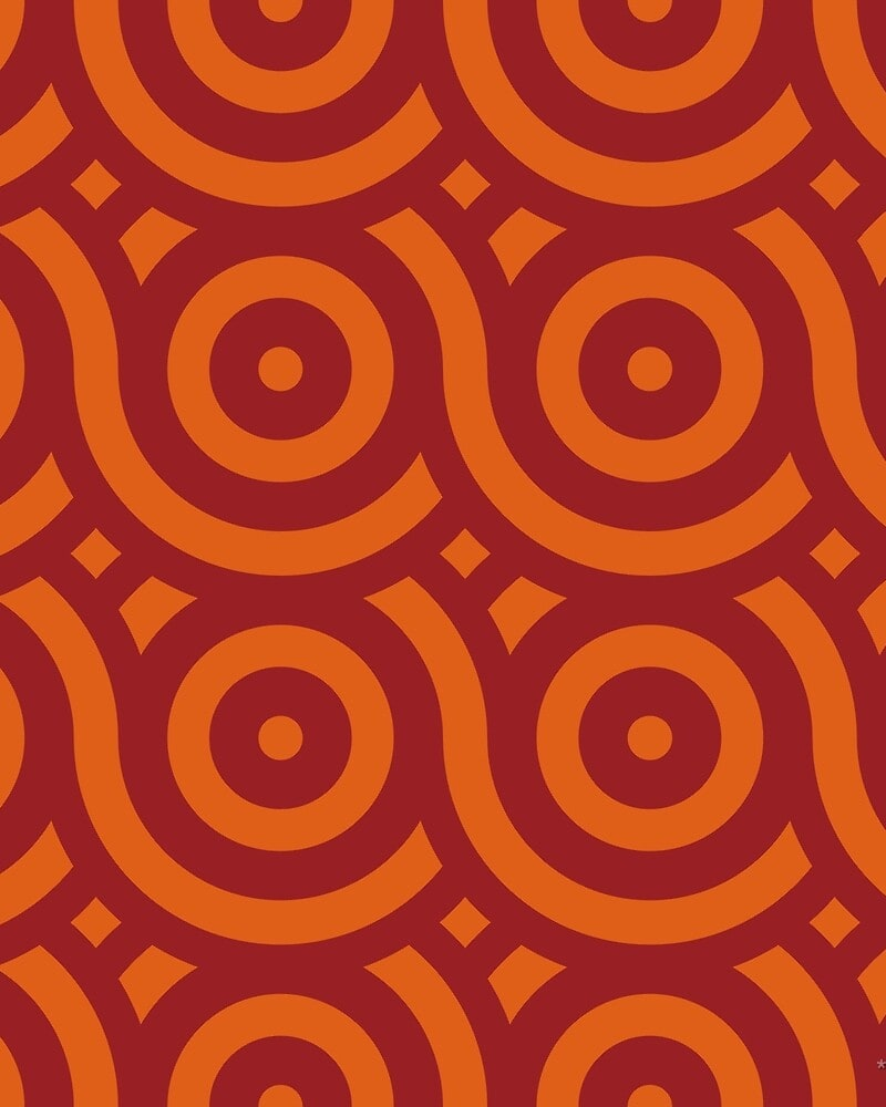 Geometric Pattern: Loop: Moderna / Red Wolf