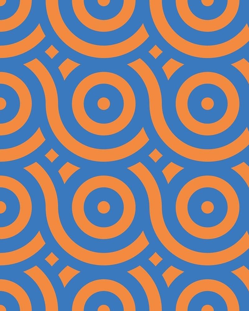 Geometric Pattern: Loop: Moderna / Red Wolf