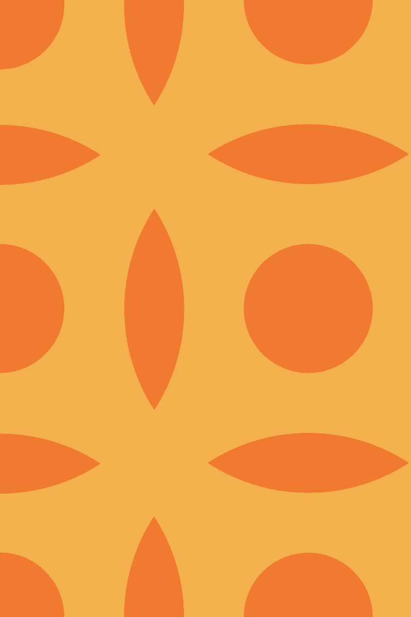 Geometric Pattern: Intersect Circle: Brunch / Red Wolf