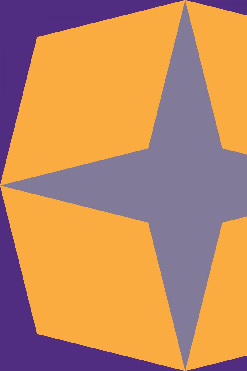 Geometric Pattern: Diamond Star: Retro / Red Wolf