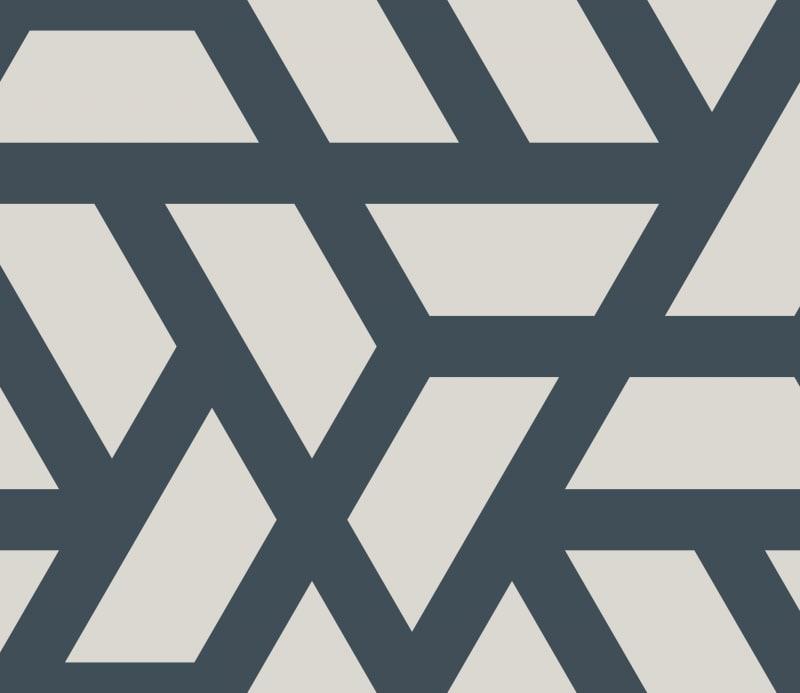 Geometric Pattern: Aperture: Stone / Red Wolf