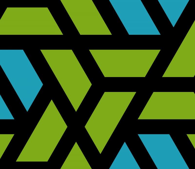 Geometric Pattern: Aperture: Retro / Red Wolf