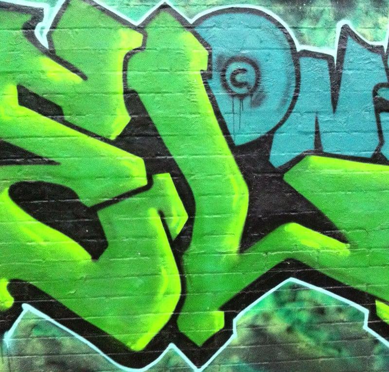 Graffiti Pink + Green / Red Wolf