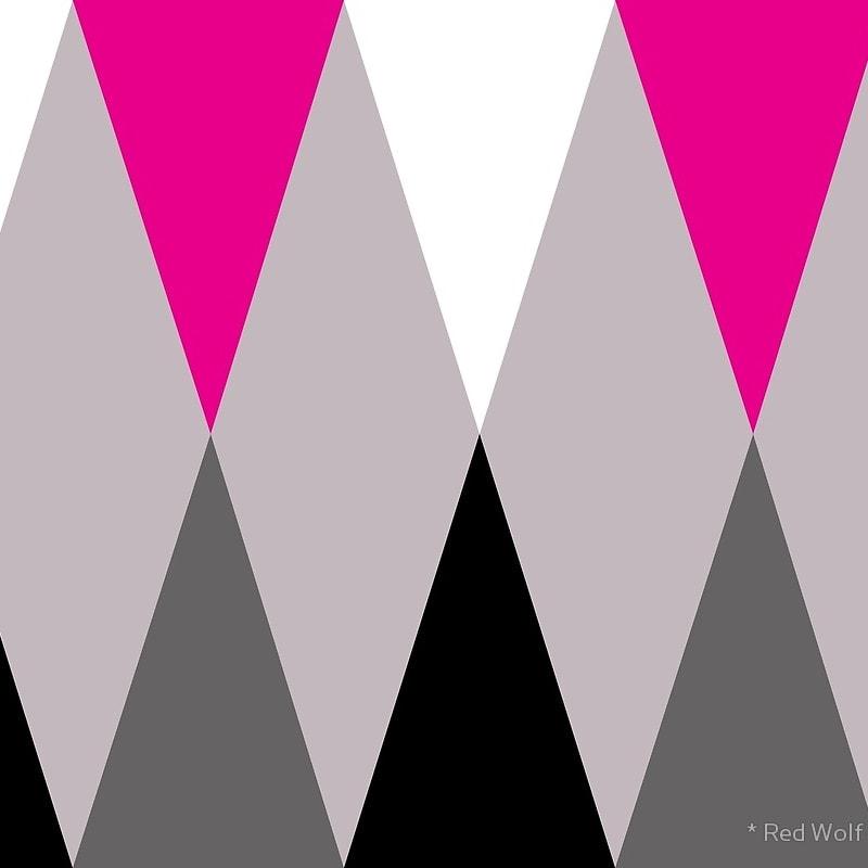 Geometric Pattern: Harlequin / Red Wolf