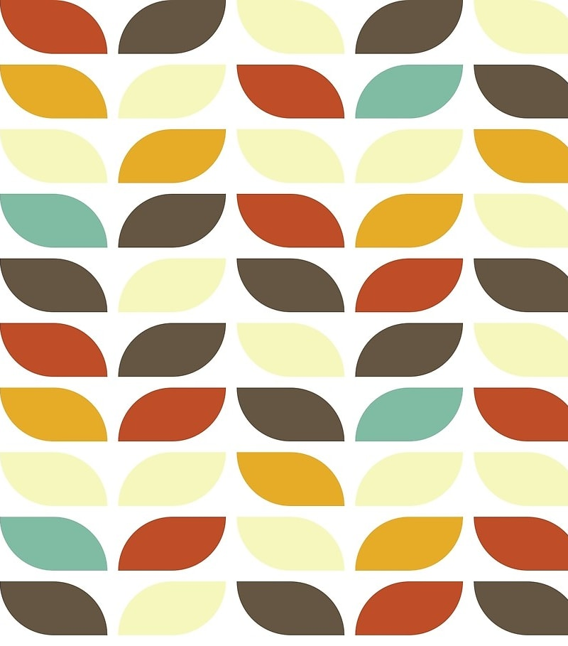 Geometric Pattern: Leaf: Seasons / Red Wolf