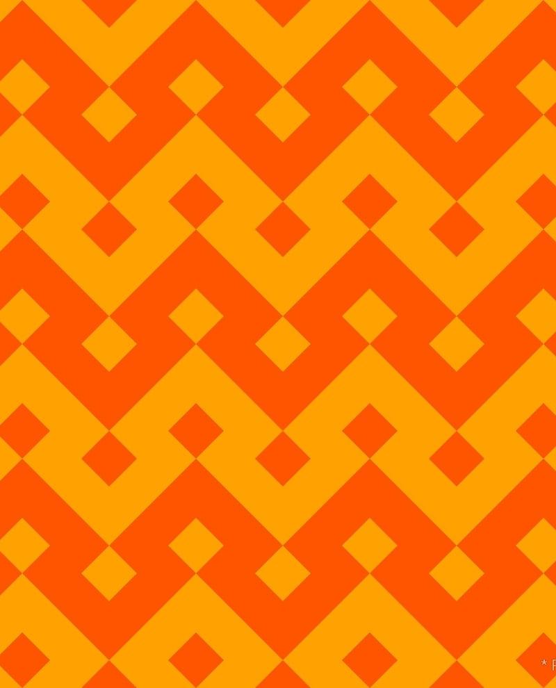 Geometric Pattern: Heavy Loop Diamond / Red Wolf