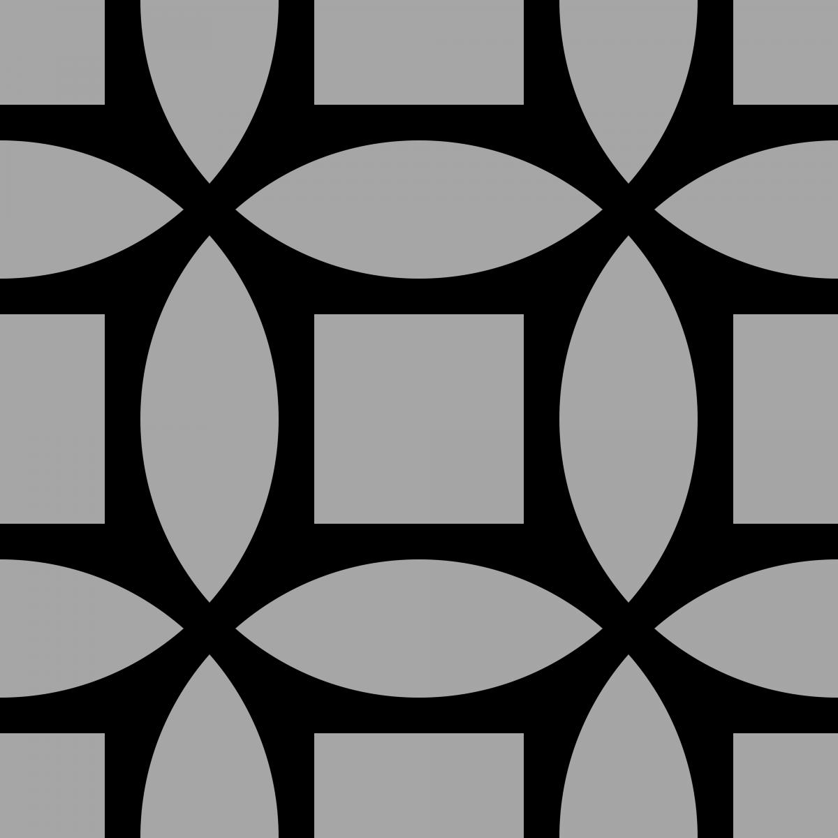 Geometric Pattern: Intersect Square: Black Monochrome / Red Wolf