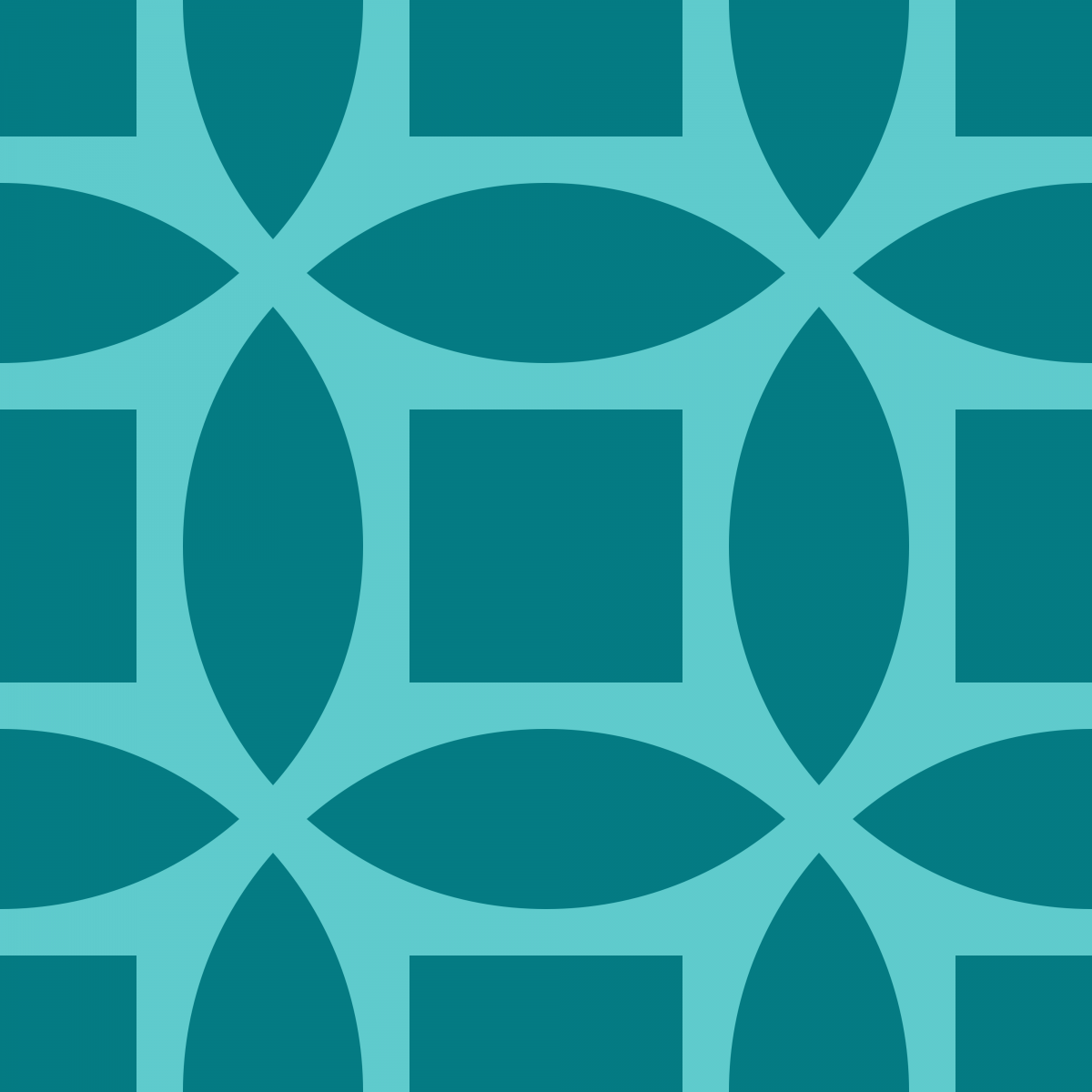 Geometric Pattern: Intersect Square: Brunch / Red Wolf