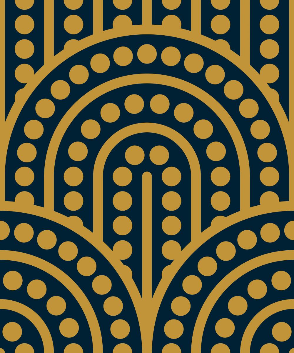 Geometric Pattern: Arch Dot: Duo / Red Wolf