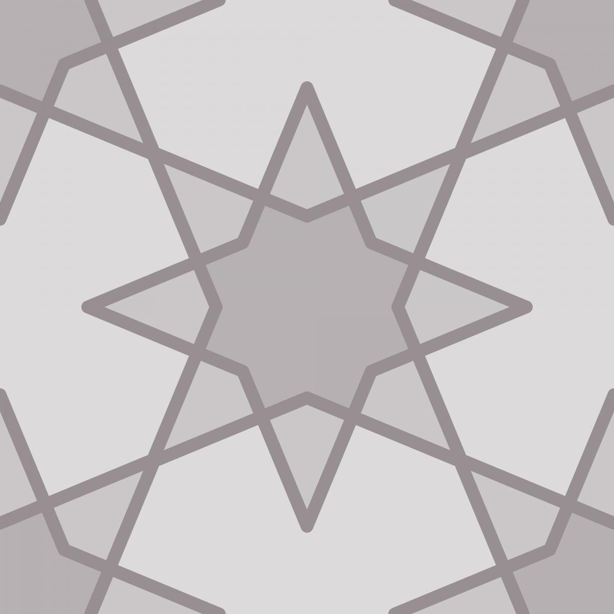 Geometric Pattern: Octagram: Layer / Red Wolf