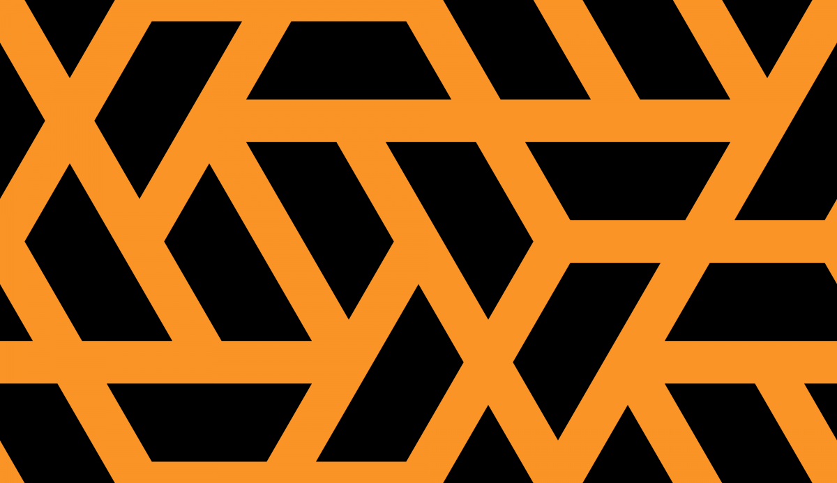 Geometric Pattern: Aperture: Black Background / Red Wolf