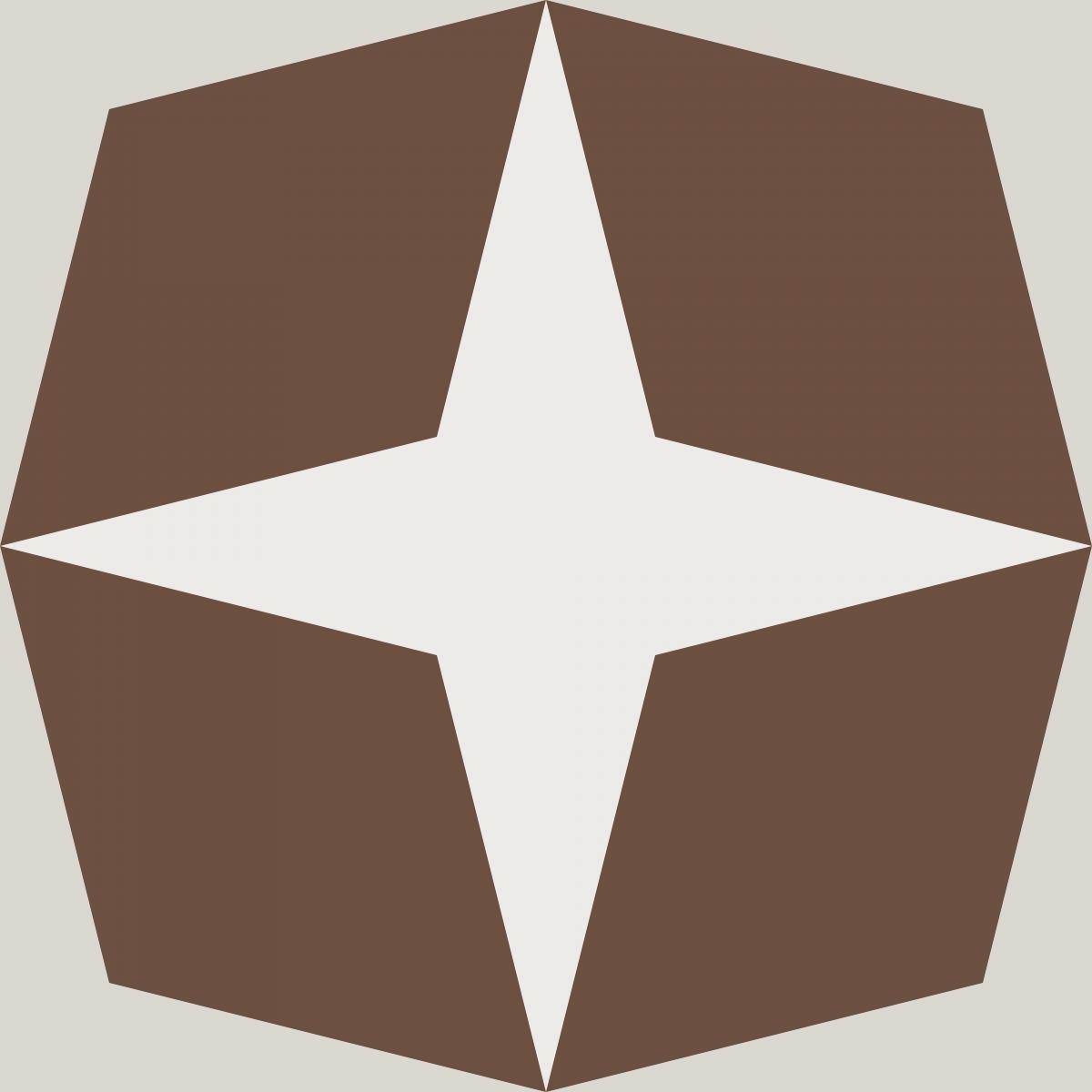 Geometric Pattern: Diamond Star: Stone / Red Wolf