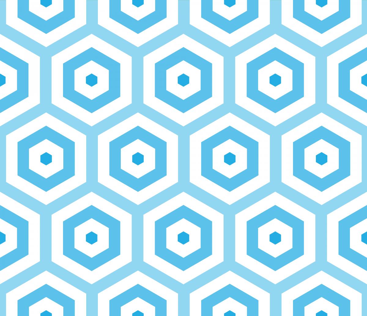 Geometric Pattern: Hexagon Hive: Light Positive / Red Wolf
