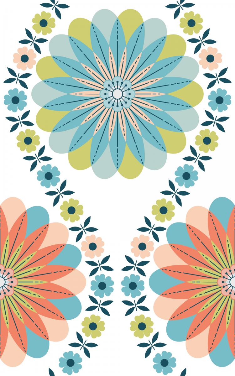 Flower Pattern: Daisy Chain / Red Wolf