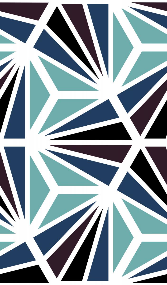 Geometric Pattern: Hexagon Ray: Deco / Red Wolf