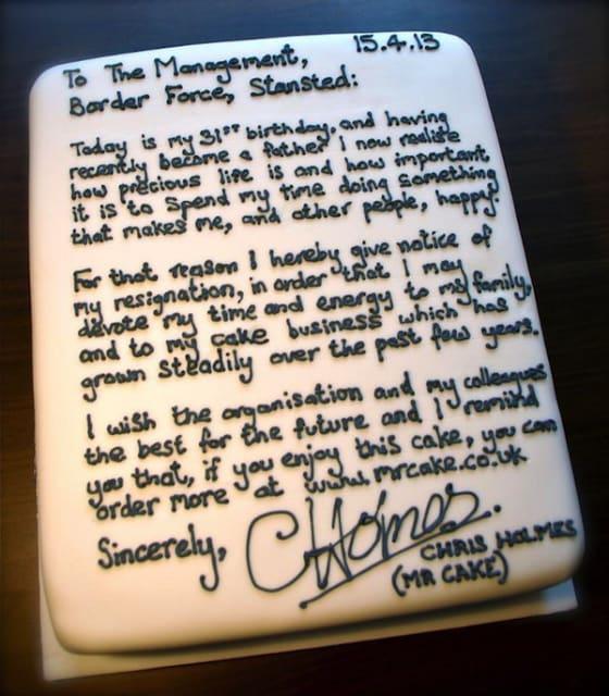 Resignation Cake / Chris Holmes