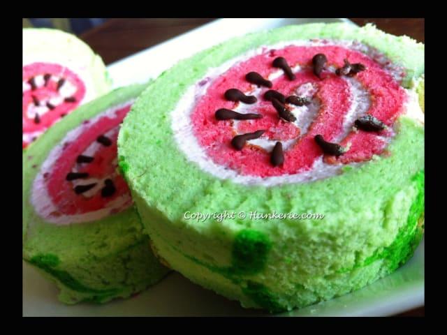 Watermelon Swiss Roll / Hankerie