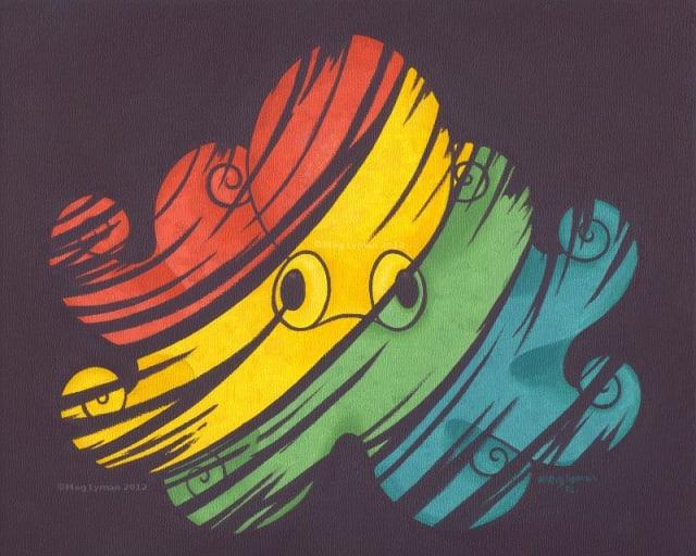 Rainbow Octopus T-Shirts / Meg Lyman