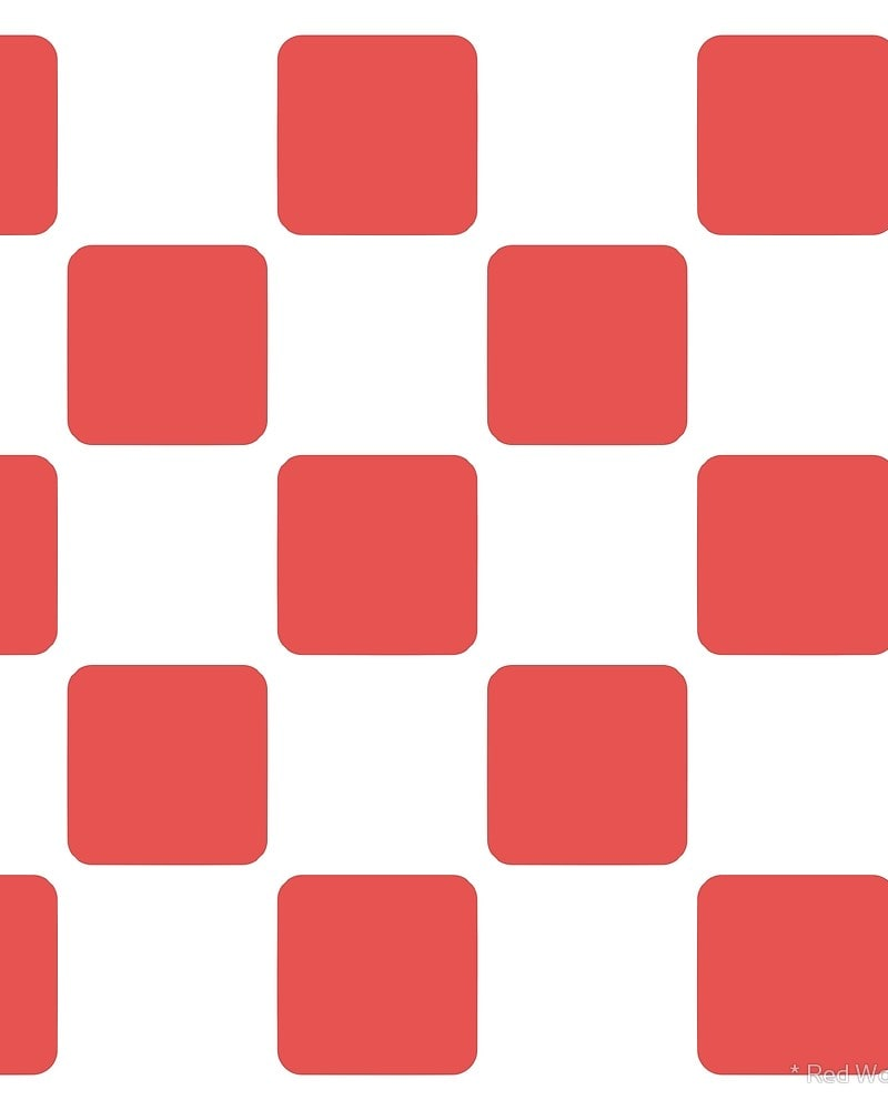 Geometric Pattern: Rounded Weave: White/Colour / Red Wolf