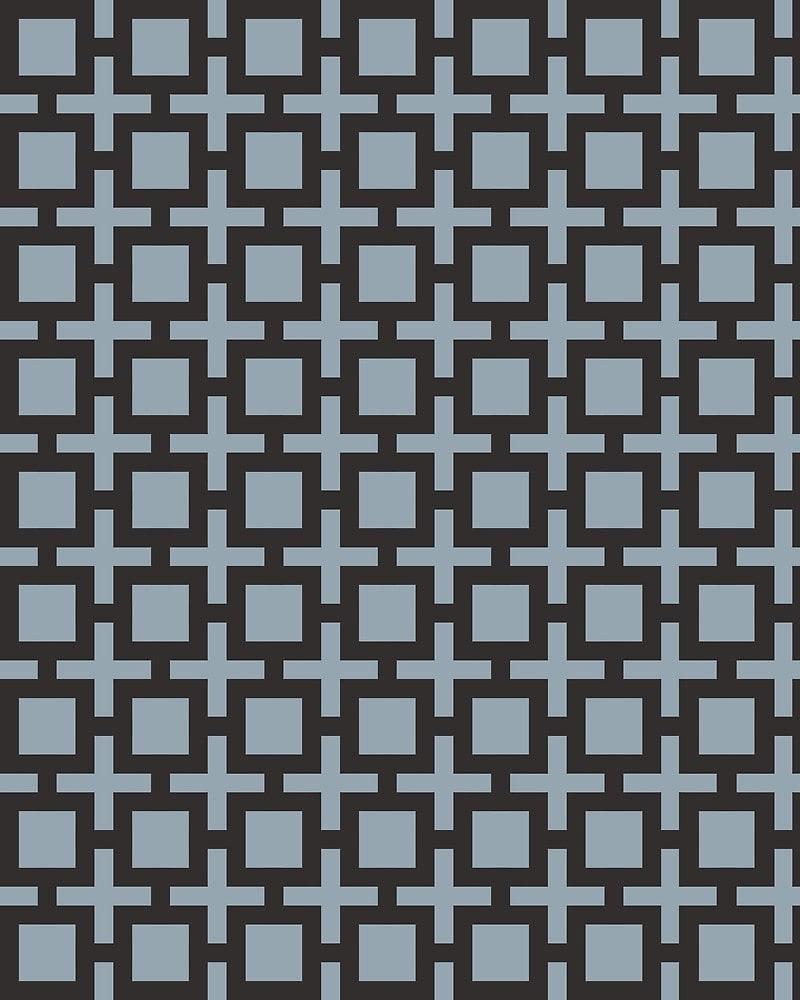 Geometric Pattern: Square + Cross / Red Wolf