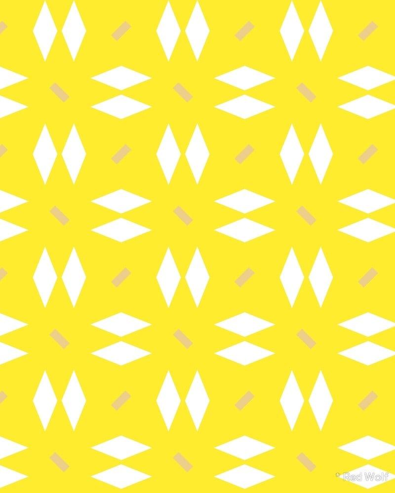 Geometric Pattern: Double Diamond Dash / Red Wolf