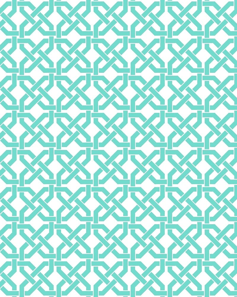 Geometric Pattern: Octagon Knot / Red Wolf
