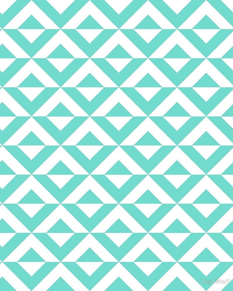 Geometric Pattern: Diamond Split / Red Wolf